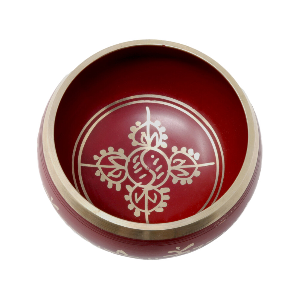 Image 2 for Brass Singing Bowl -Red