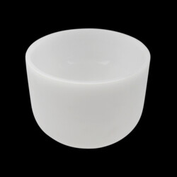 "Closeup photo of 8"" Frosted Quartz Singing Bowl"