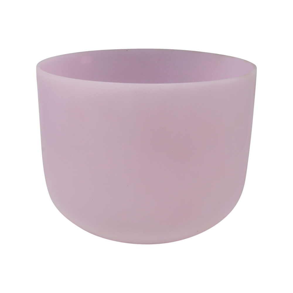 "Image 2 for 10"" Gem Infused Quartz Singing Bowl Note G Rose Quartz A07"