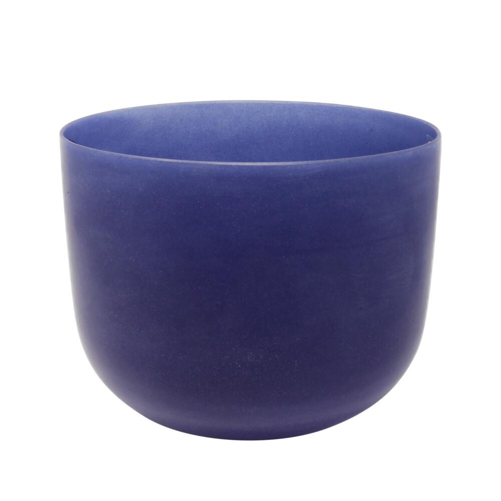 """8"""" Gem Infused Quartz Singing Bowl Note B Lapis Lazuli C03"""