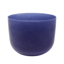 "Closeup photo of 8"" Gem Infused Quartz Singing Bowl Note B Lapis Lazuli C03"
