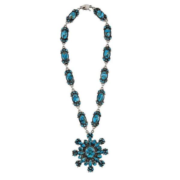 Closeup photo of Kingman Turquoise Necklace