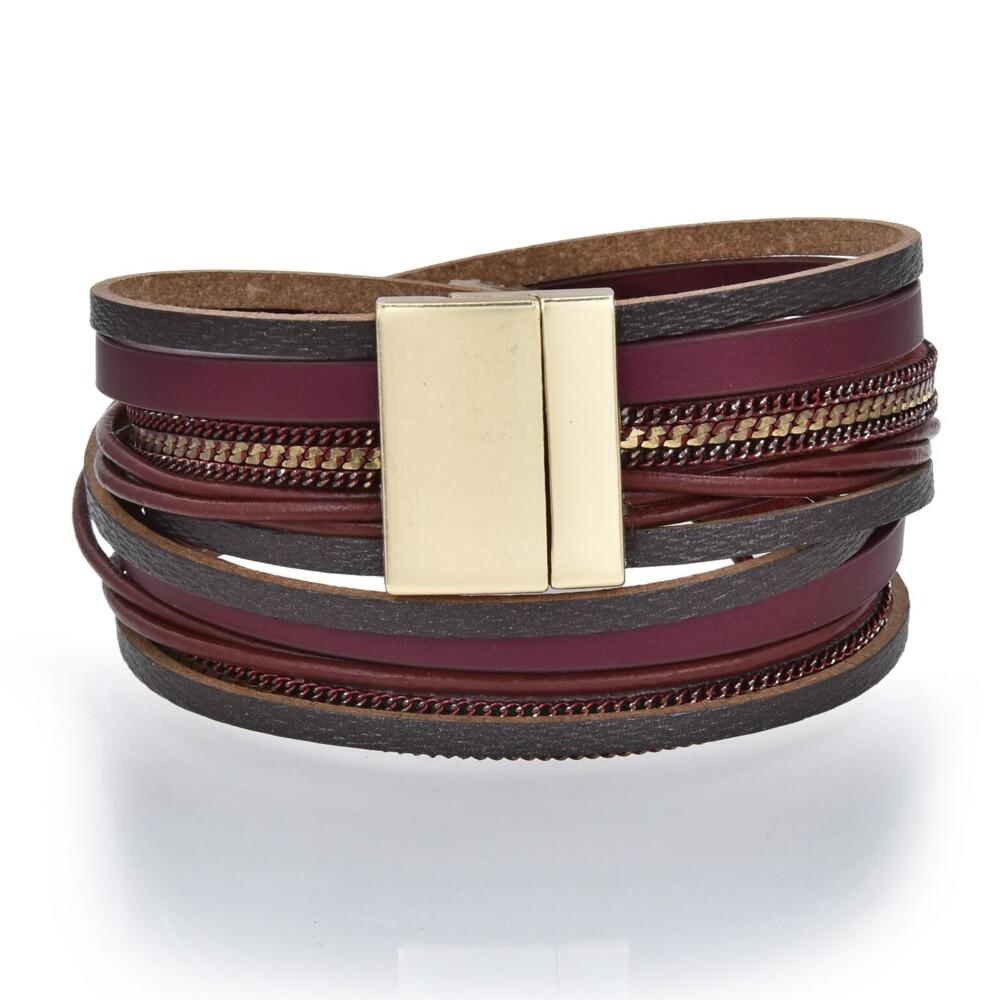 Double Wrap Druze Bracelet - Red