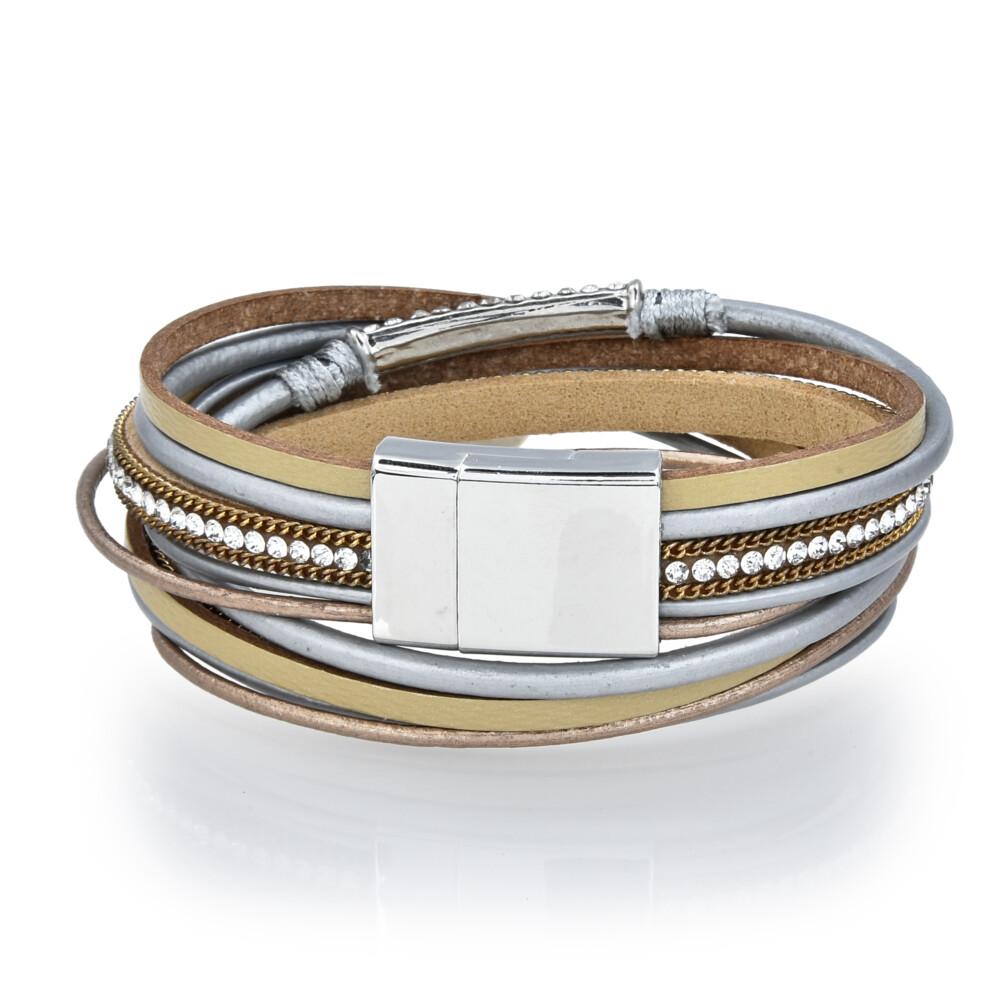 Carnelian Agate Coin Multi Wrap Bracelet