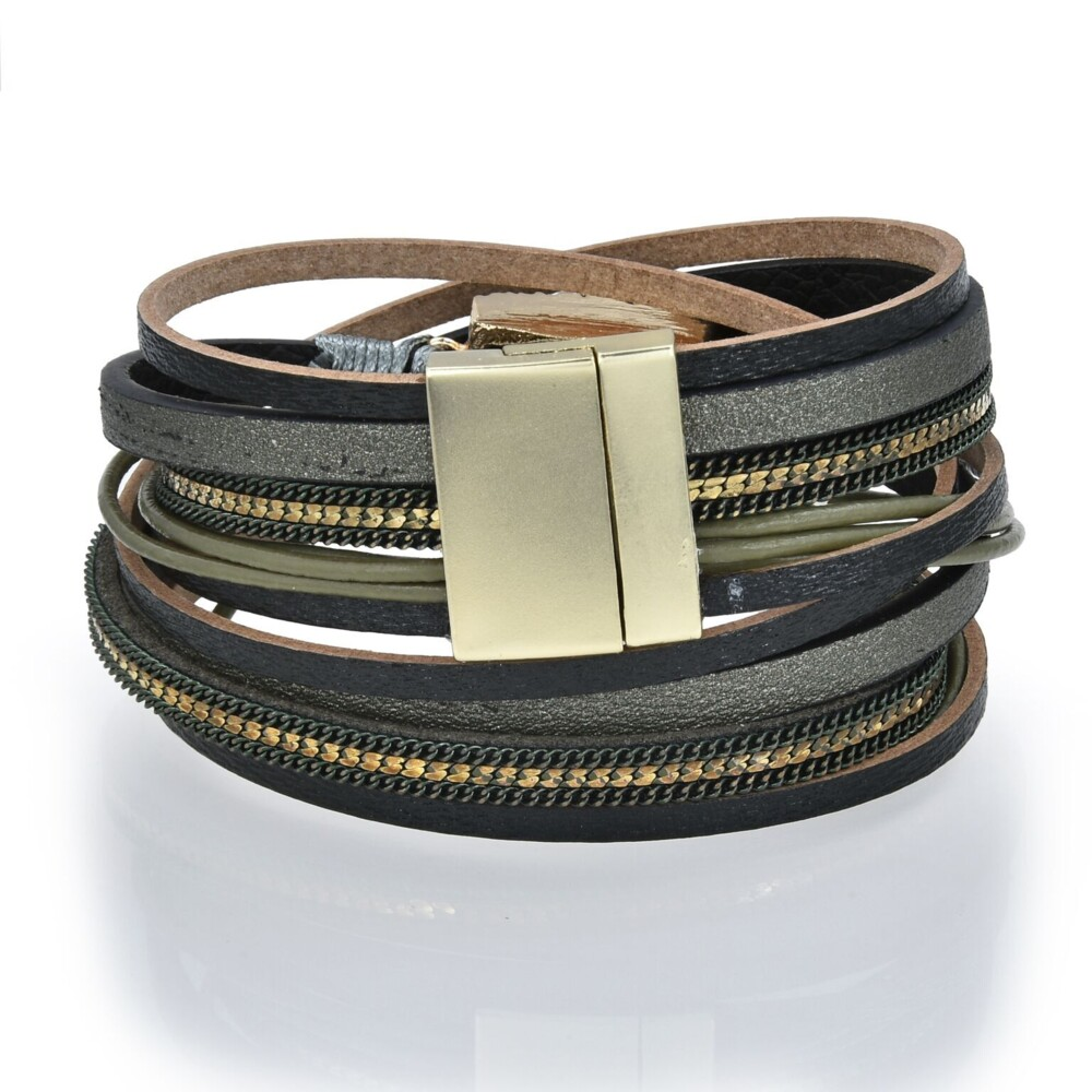 Image 2 for Olive Druze Multi Wrap Bracelet Double