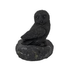 Closeup photo of Shungite Sculpture -Owl