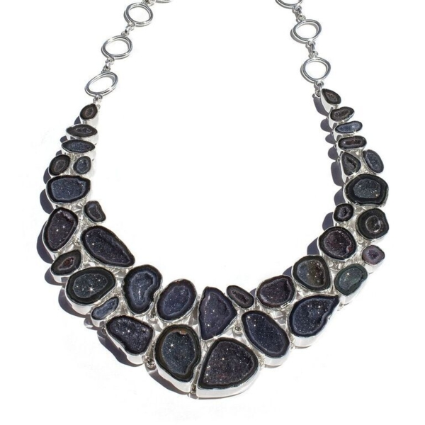 Closeup photo of Druzy Geode Necklace