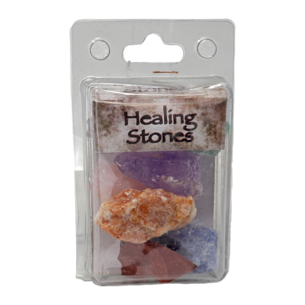 Closeup photo of Healing Stones Package