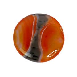 "Closeup photo of Carnelian Round Disc Sardonyx 2"""