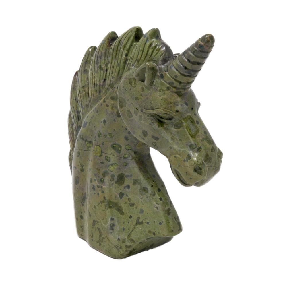 Dragon Bloodstone Carved Unicorn