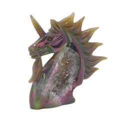 Closeup photo of Rainbow Agate Unicorn