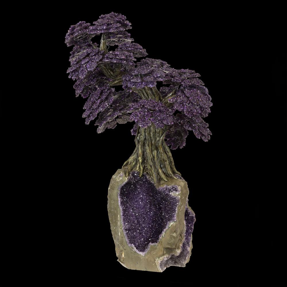 Image 2 for Amethyst Gemstone Tree On Dark Amethyst Base