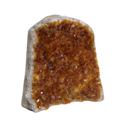 Closeup photo of Citrine Druze Cut Base