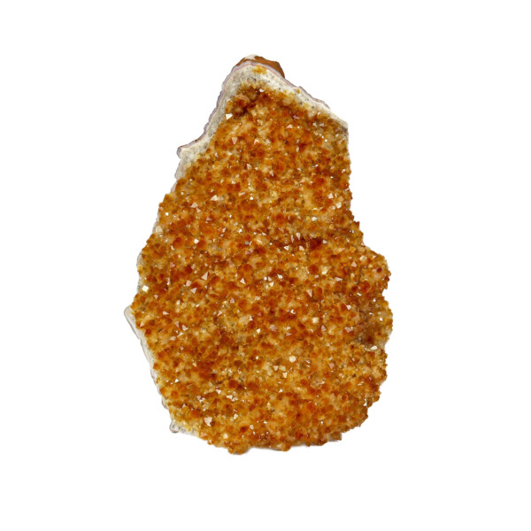 Closeup photo of Citrine Druze Cluster Plaque