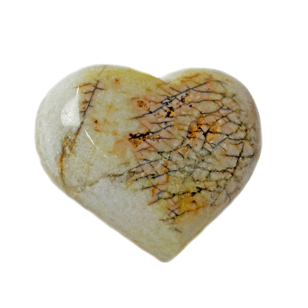 Citrine Druze Heart On Cluster Stand