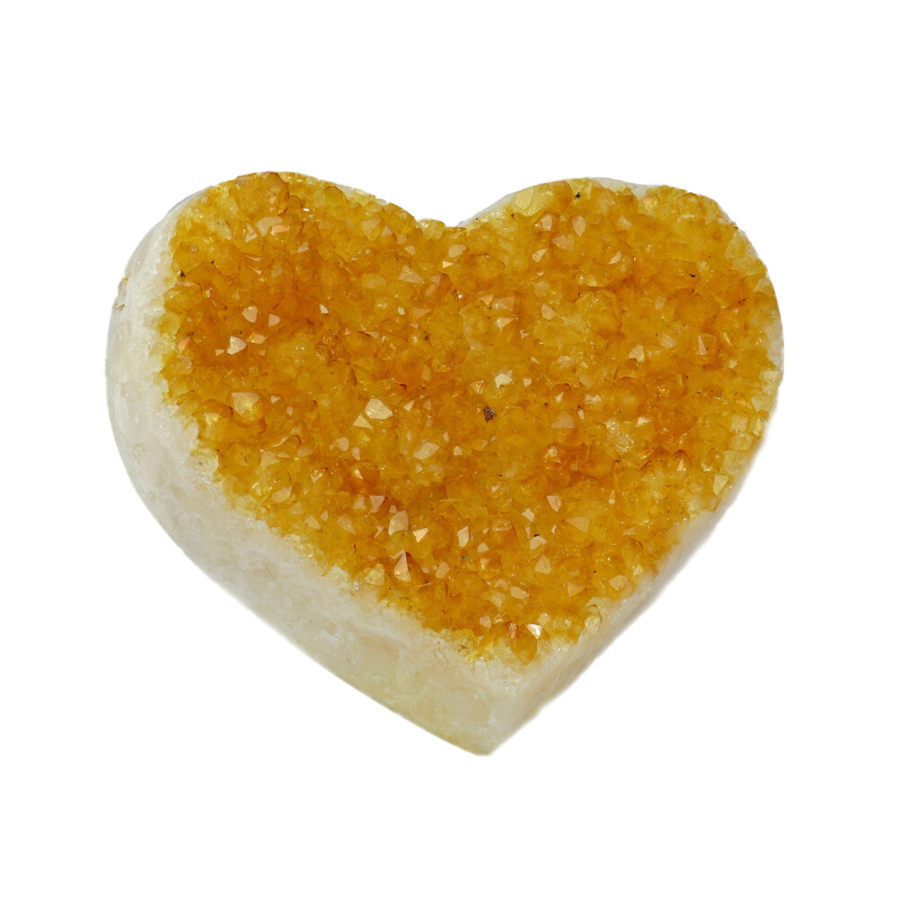Image 2 for Citrine Druze Heart On Cluster Stand