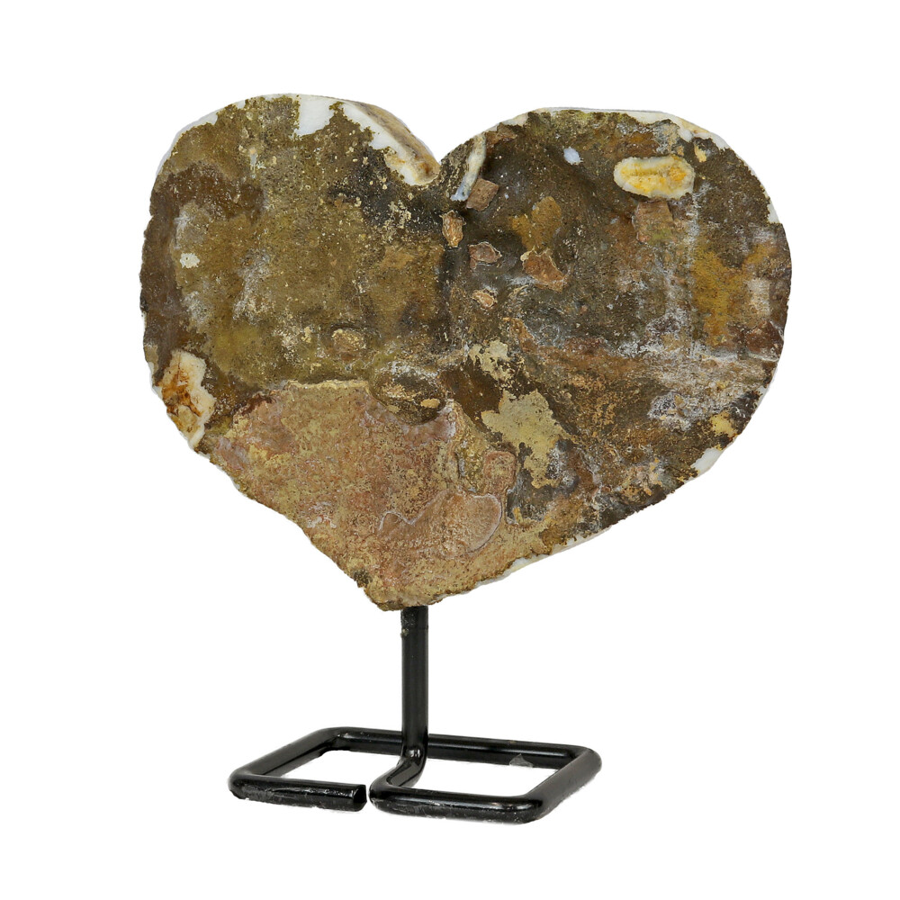 Citrine Heart In Fitted Stand