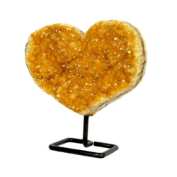 Closeup photo of Citrine Heart In Fitted Stand