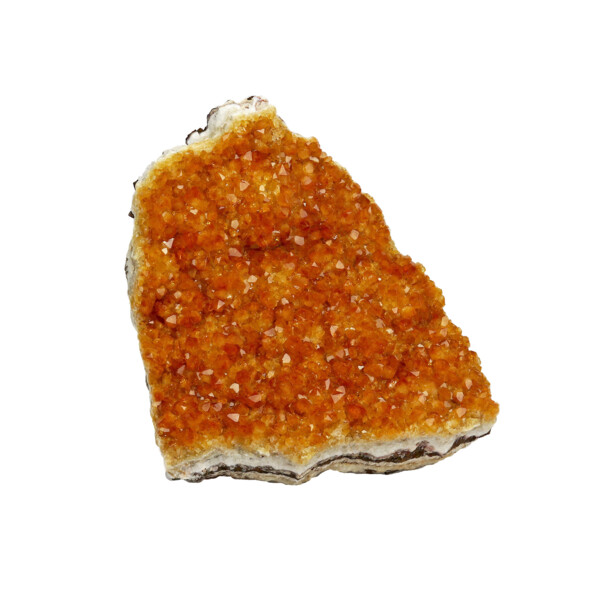 Closeup photo of Citrine Crystal Plaque Small Crystals