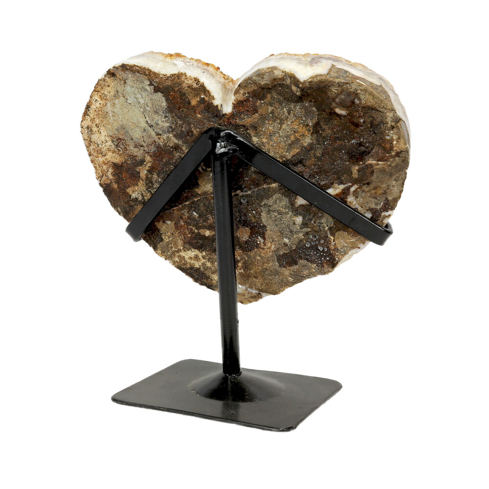 Citrine Crystal Heart On Stand