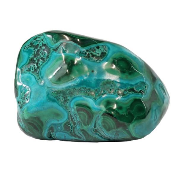 Closeup photo of Chrysocolla Malachite Polished -Medium
