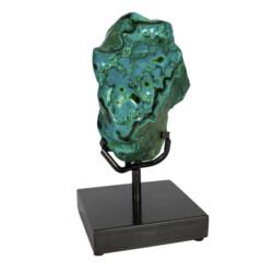 Closeup photo of Chrysocolla & Malachite On Custom Stand -Freeform Polished