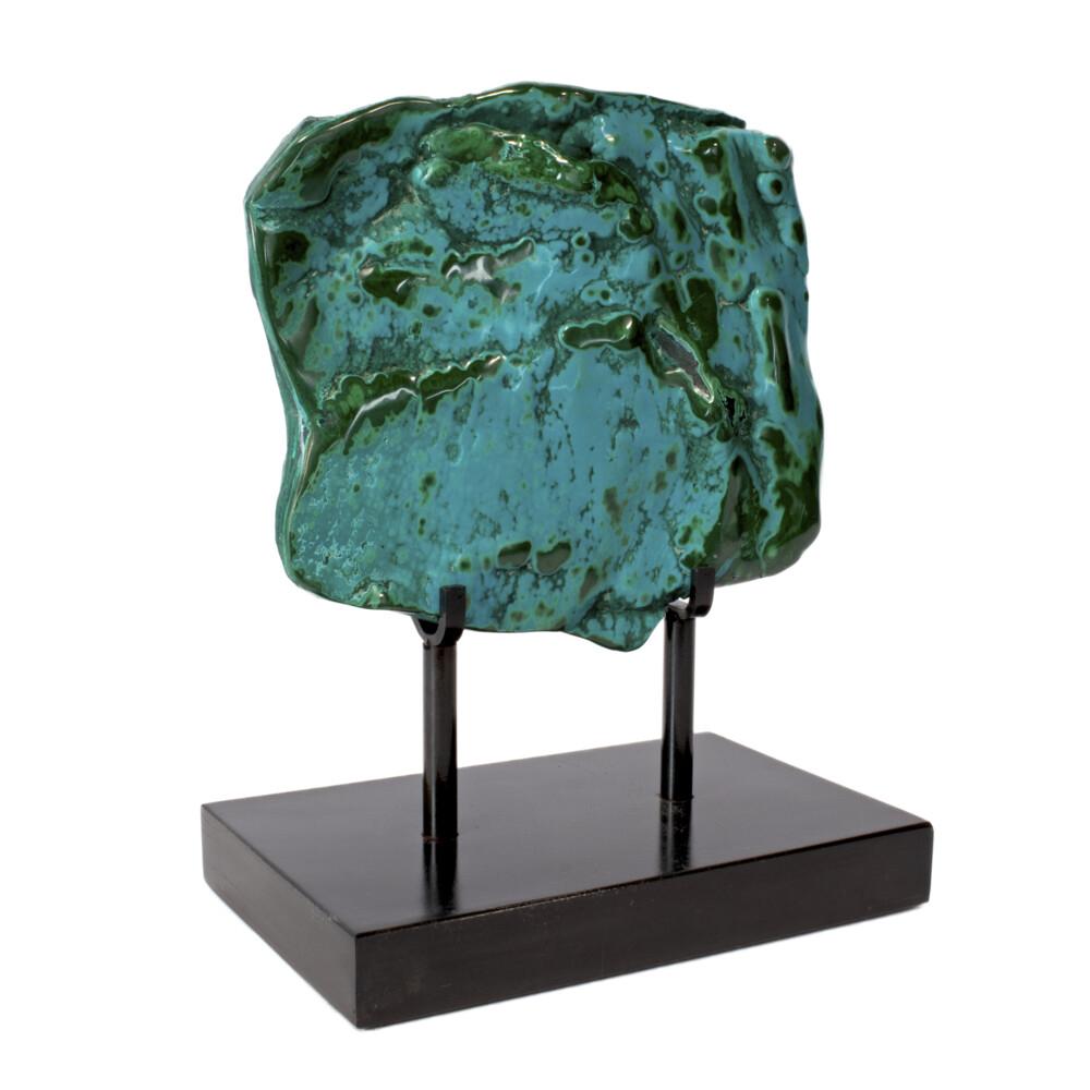 Image 2 for Chrysocolla Malachite On Custom Stand -Polished