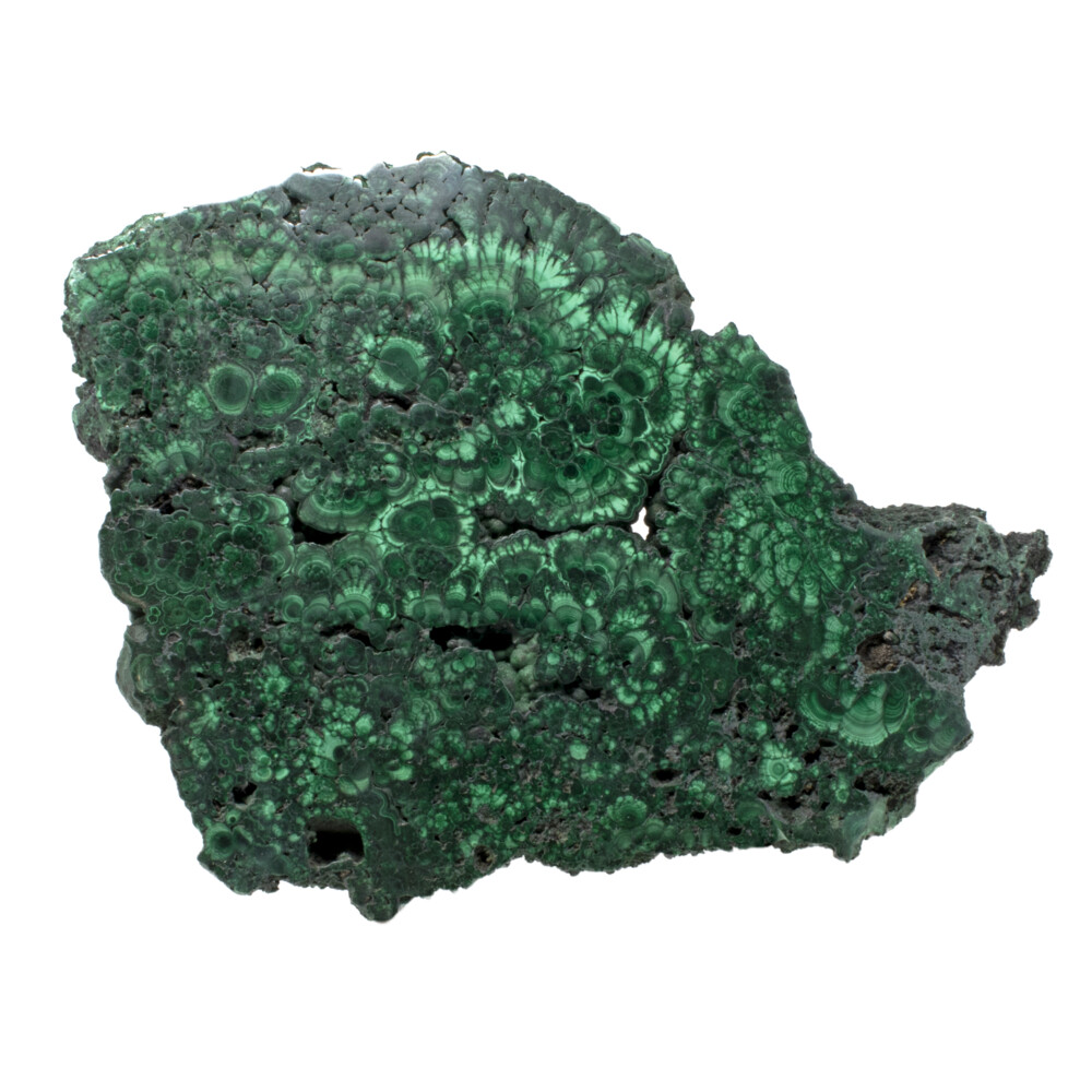 "Malachite Slice -Beautiful Patterns 1"" Thick"