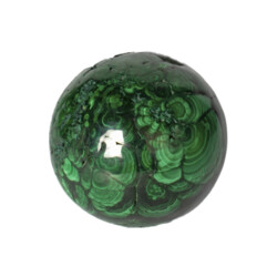 Closeup photo of Malachite Sphere Polished 4 Inch Dia