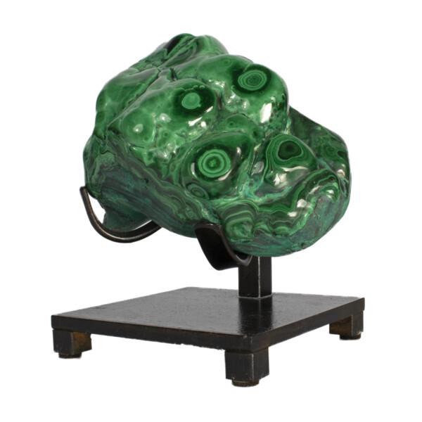 Closeup photo of Congo Malachite Polished On Custom Stand