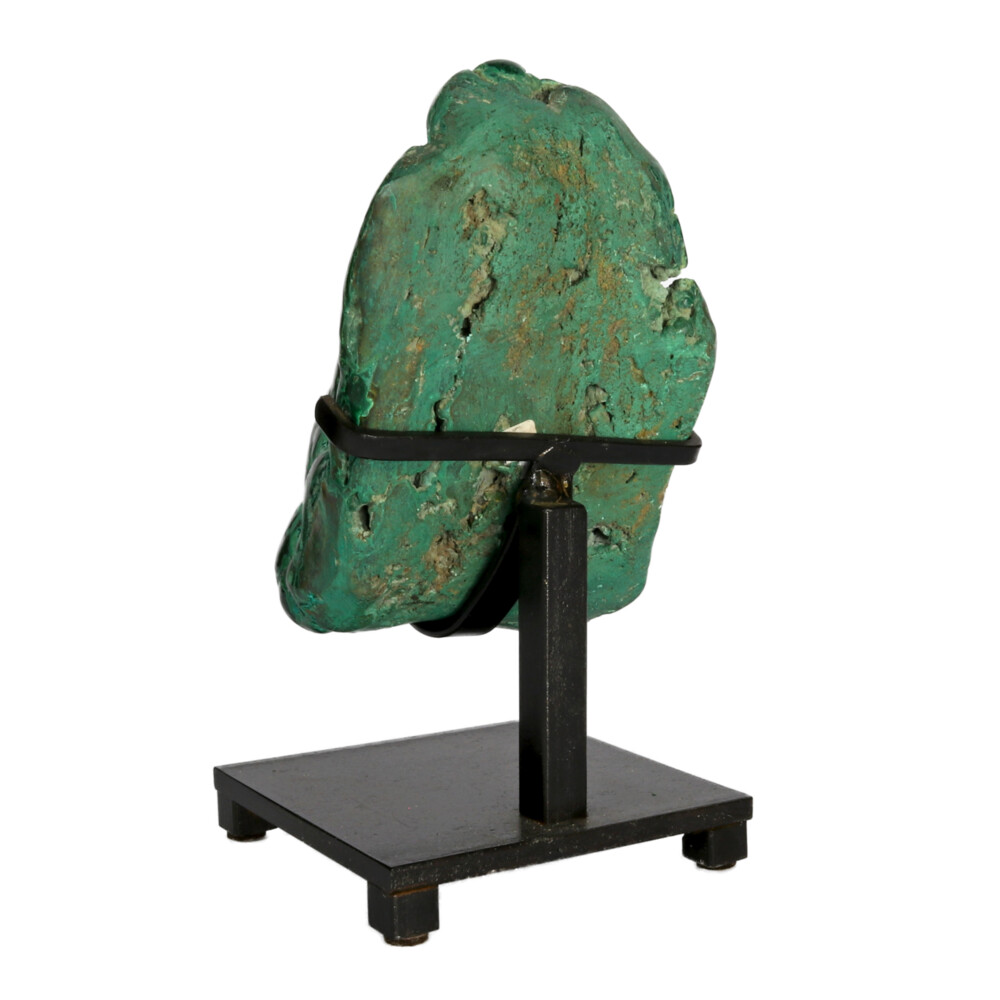 Congo Chrysocolla Malachite Polished On Custom Stand