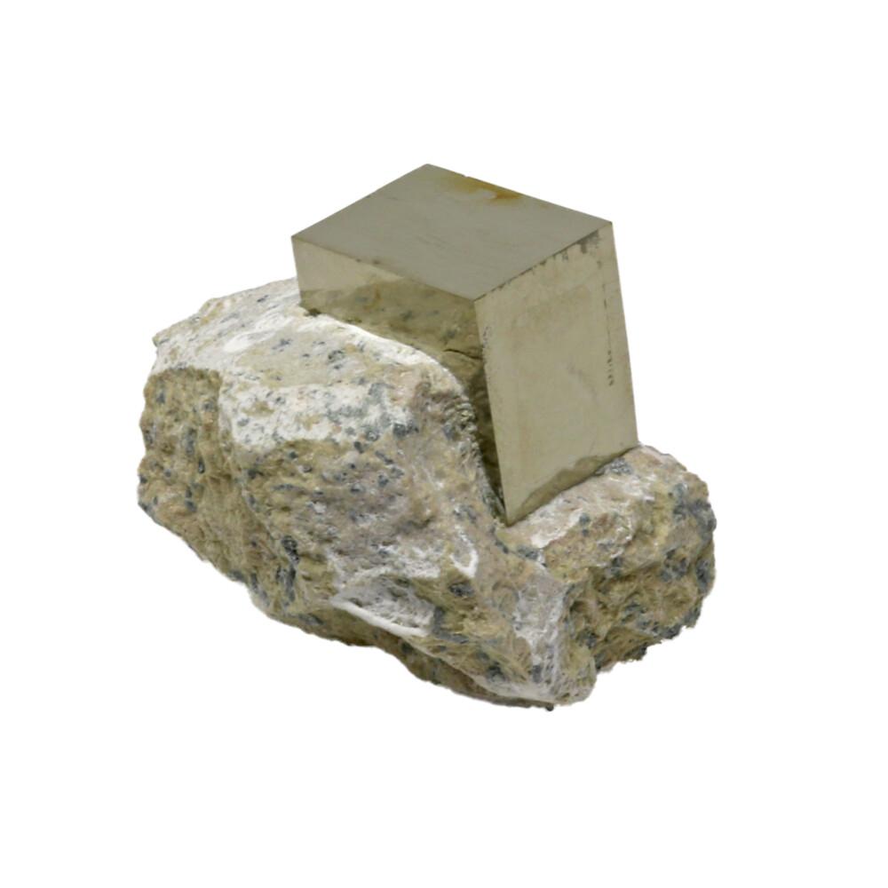 Cubic Pyrite Crystals In Matrix