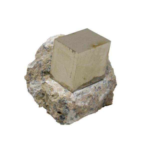 Closeup photo of Cubic Pyrite Crystals In Matrix