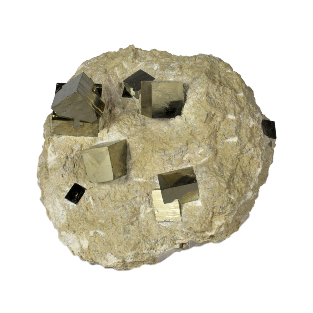Image 2 for Cubic Pyrite Double Bonded In Matrix