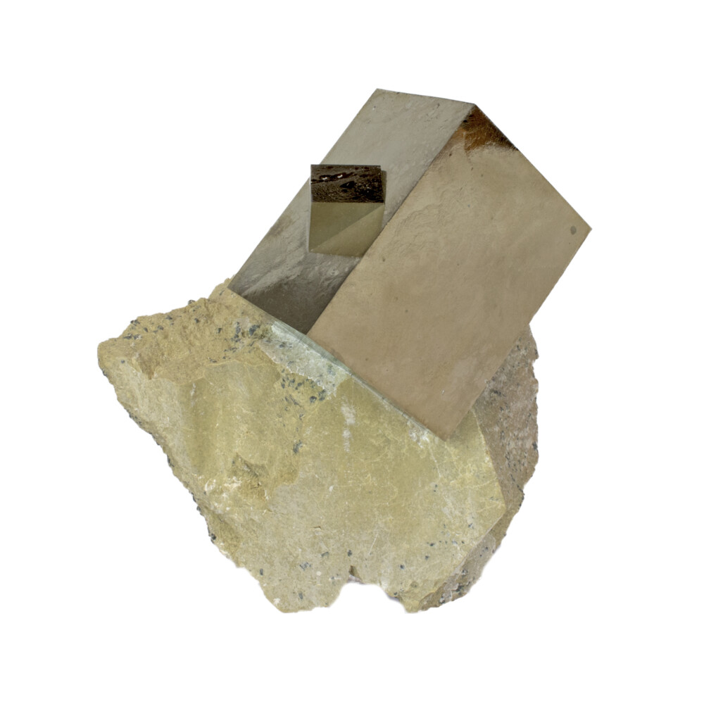 Cubic Pyrite Rectangular Bonded Crystal