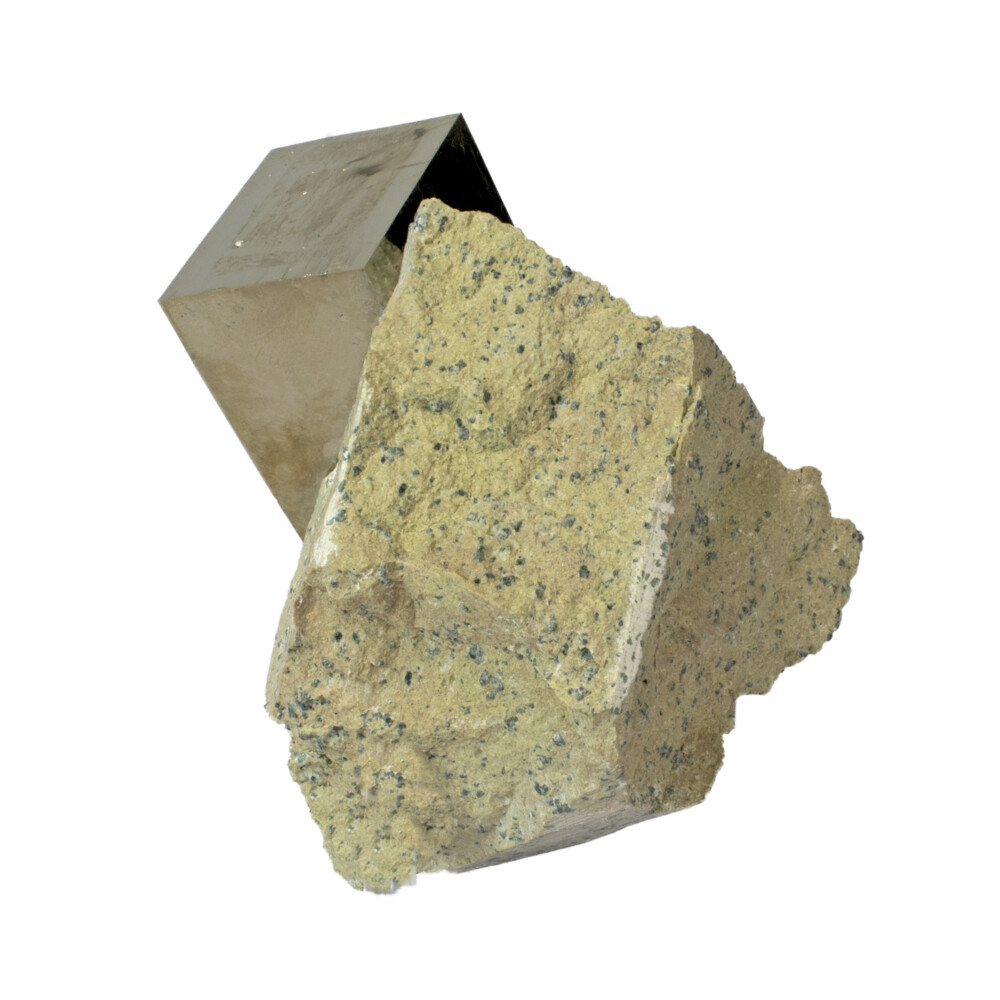 Image 2 for Cubic Pyrite Rectangular Bonded Crystal