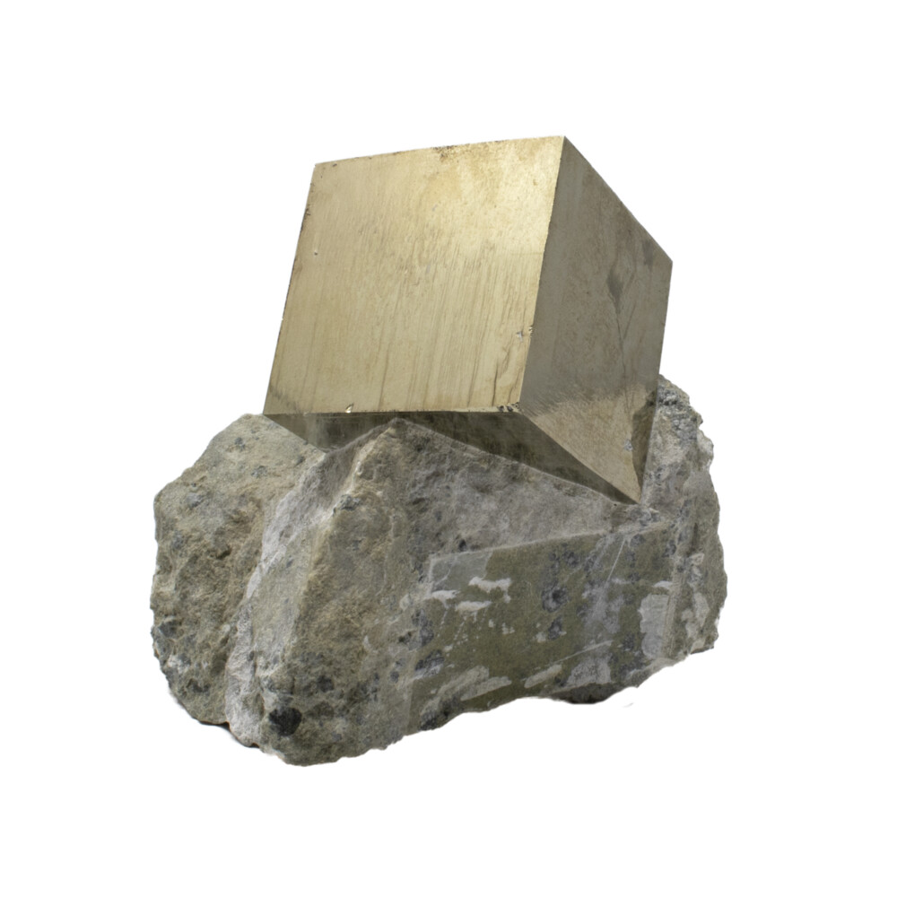 Cubic Pyrite Single In Matrix