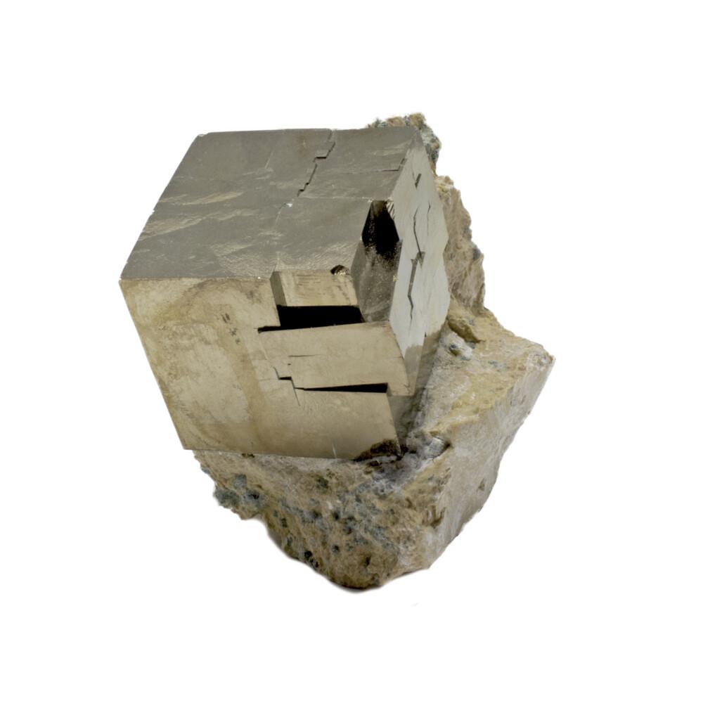 Cubic Pyrite Crystals -Bonded Set In Matrix