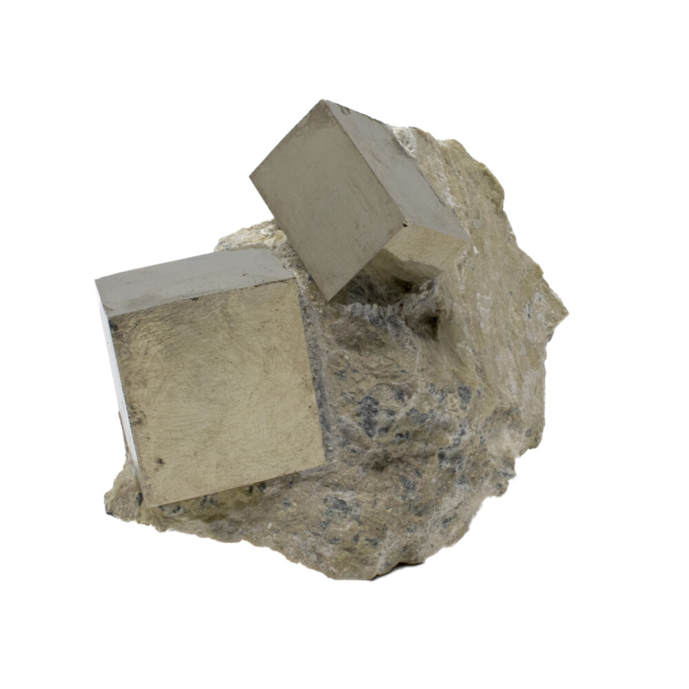 Image 2 for Cubic Pyrite Crystals -Bonded Set In Matrix
