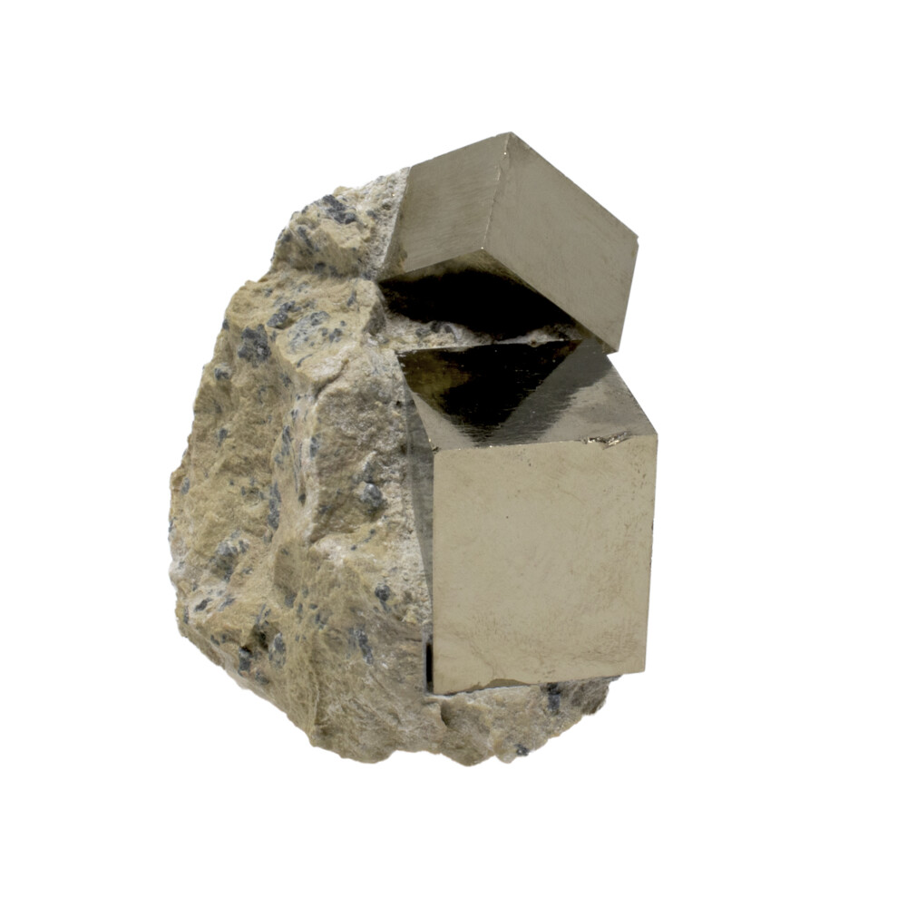 Cubic Pyrite Crystals -Bonded Set In Matrix