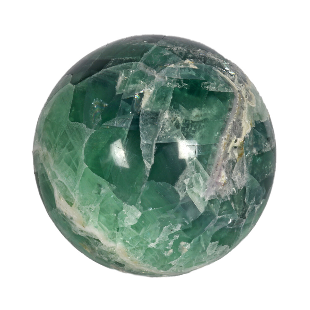 Fluorite Banded Sphere With Acrylic Stand