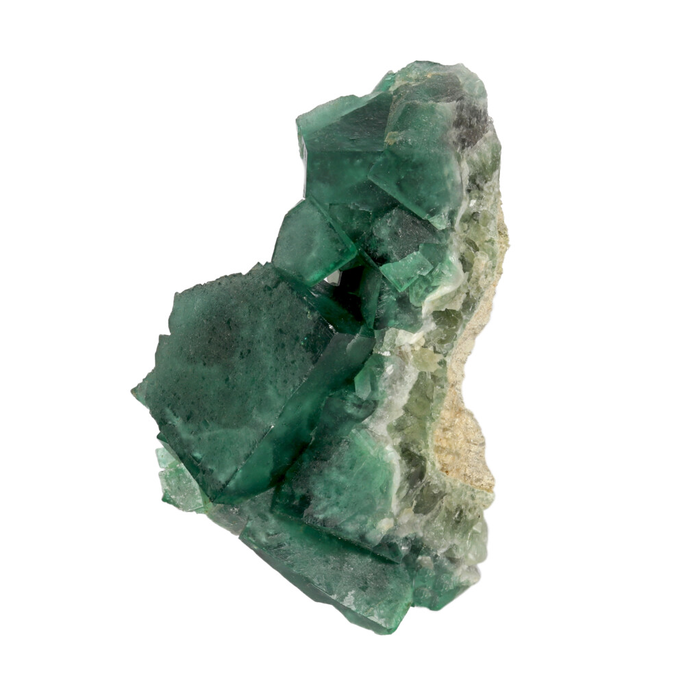 Image 2 for Green Cubic Fluorite Cluster