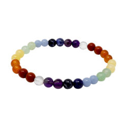Closeup photo of 7 Chakra Bracelet 6mm