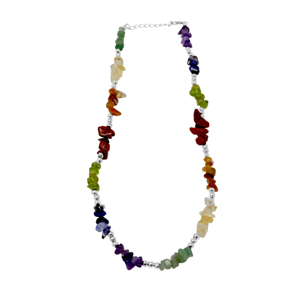 7 Chakra Chip Necklace