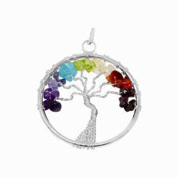Closeup photo of 7 Chakra Tree Of Life Pendant