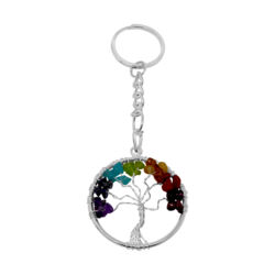 Closeup photo of 7 Chakra Tree Of Life Keychain