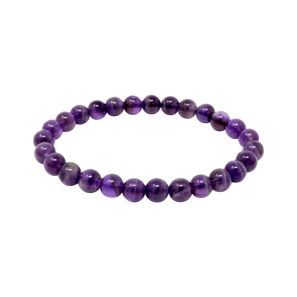Closeup photo of Amethyst Bracelet 7 - 8mm