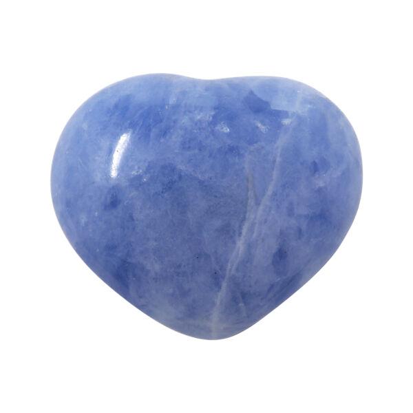 Closeup photo of Blue Calcite Heart