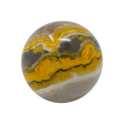 Closeup photo of Bumblebee Jasper Sphere