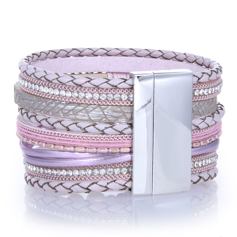 Image 2 for Pink Tree Of Life Wrap Bracelet